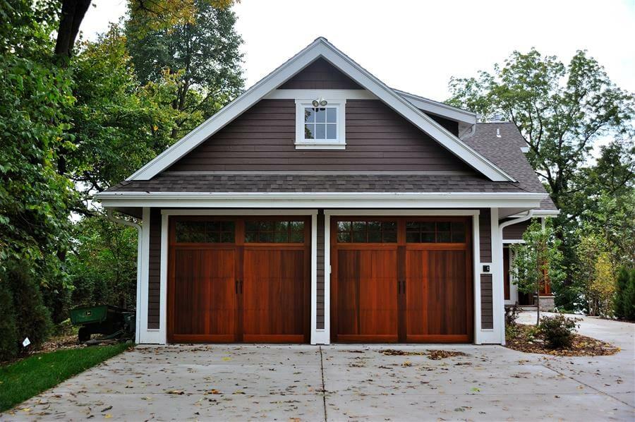 Carriage door at smart doors the top carriage house for Garage door wood overlay