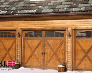 Cedar Overlay Garage Doors