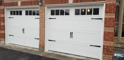 barn styled garage door by smart doors