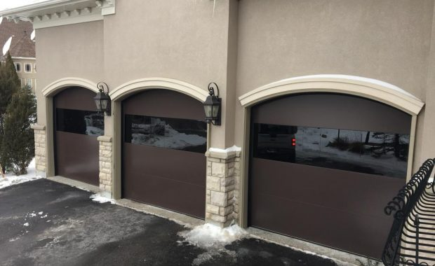 dome shaped garage door by smart doors