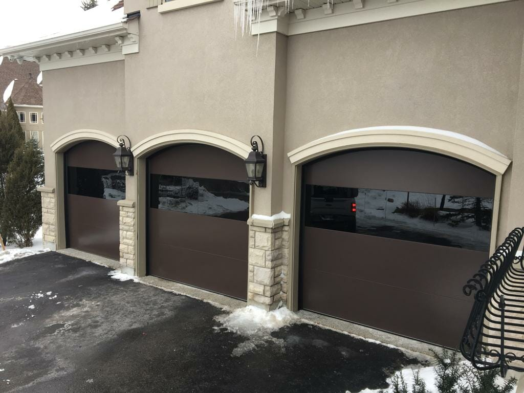 dome shaped garage door by smart doors
