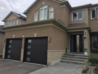 twinning flush panel garage door by smart doors