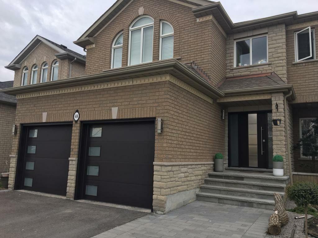 twinning flush panel garage door by smart doors