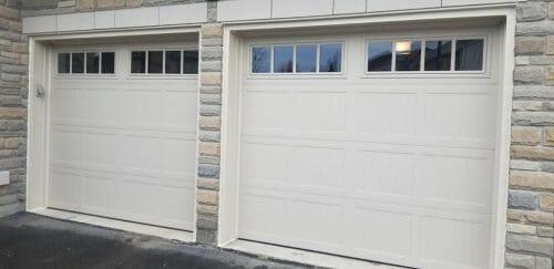 white garage door by smart doors
