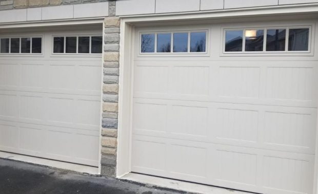 white garage door by smart doors