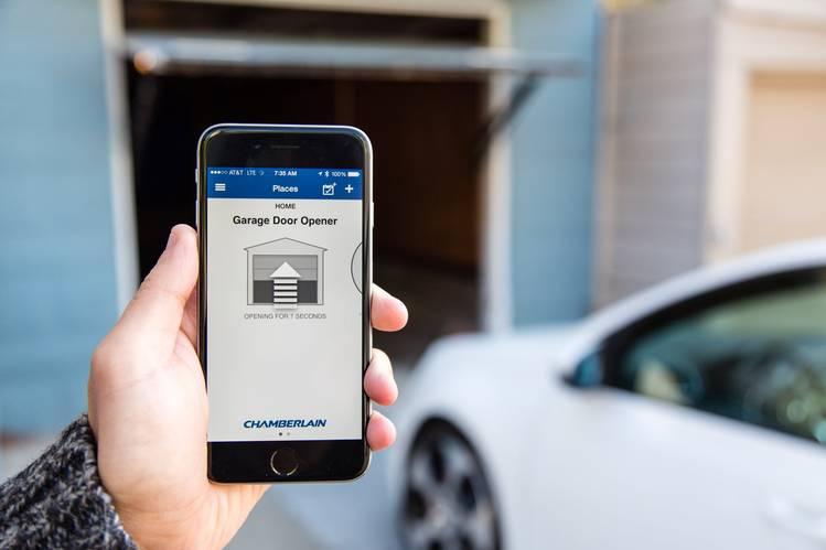 garage door opener using smart phone