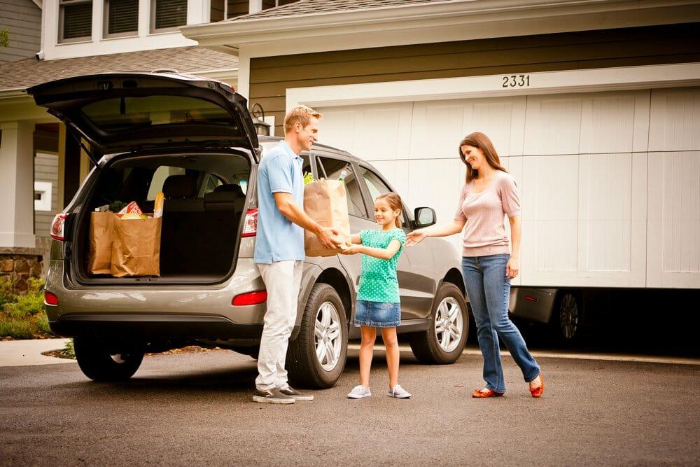 Family-with-Garage-Door-Opener